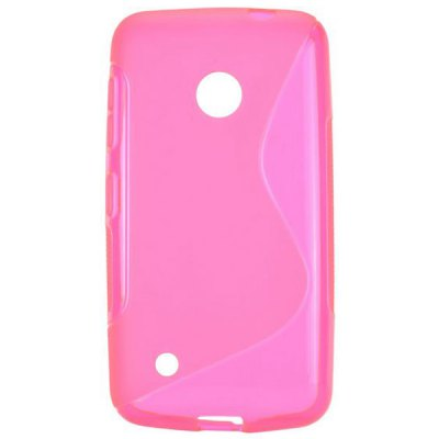 ФОТО S Shape Desing TPU Material Back Cover Case for Nokia 530