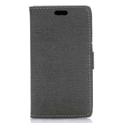 Гаджет   Cloth Texture Phone Cover PU Case Skin with Stand Function for Samsung Galaxy Core Lite LTE G3586 Samsung Cases/Covers