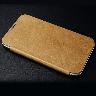 Moby Fashion Flip Vintage Waxy Leather Cover Case for Samsung Galaxy Note 2 N7100