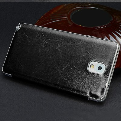 ФОТО Moby Smart View Window Design Flip Vintage Waxy Leather Cover Case for Samsung Galaxy Note 3