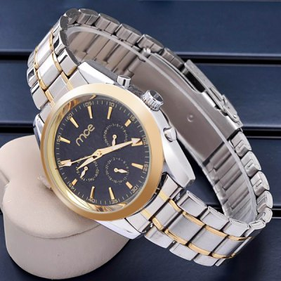 Mce Hollow - out Automatic Mechanical Watch Working Sub - dials Alloy Body for Men