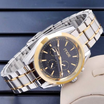 ФОТО Mce Hollow - out Automatic Mechanical Watch Working Sub - dials Alloy Body for Men