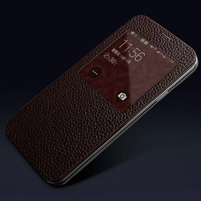 Moby Flip Genuine Leather Lichee Pattern Phone Case with View Window for Samsung Galaxy S5 i9600 SM - G900Samsung Cases/Covers<br>Moby Flip Genuine Leather Lichee Pattern Phone Case with View Window for Samsung Galaxy S5 i9600 SM - G900<br><br>Compatible for Sumsung: Samsung Galaxy S5 i9600 SM-G900<br>Features: Full Body Cases, With View Window<br>Material: Genuine Leather<br>Style: Modern<br>Color: Khaki, Pink, Coffee, Red, Off-white, Blue, Rose, Brown, Black<br>Product weight: 0.070 kg<br>Package weight: 0.120 kg<br>Product size (L x W x H) : 14.4 x 7.5 x 1.0 cm / 5.66 x 2.95 x 0.39 inches<br>Package size (L x W x H): 22.0 x 11.0 x 2.0 cm / 8.65 x 4.32 x 0.79 inches<br>Package Contents: 1 x Moby Lichee Pattern Flip View Window Genuine Leather Case