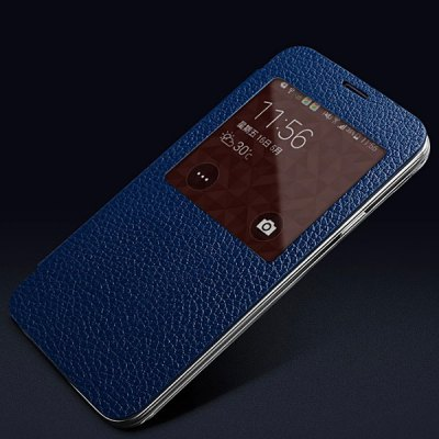 Гаджет   Moby Flip Genuine Leather Lichee Pattern Phone Case with View Window for Samsung Galaxy S5 i9600 SM - G900 Samsung Cases/Covers