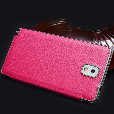 Фотография Moby Lichee Pattern Flip Genuine Leather Phone Case with View Window for Samsung Galaxy Note 3