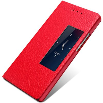 Фотография Moby Litchi Veins Genuine Leather and TPU Material Cover Case for Huawei Ascend P7