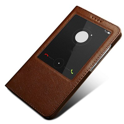 ФОТО Moby View Window Design Genuine Leather PC and TPU Cover Case for Huawei Mate 7