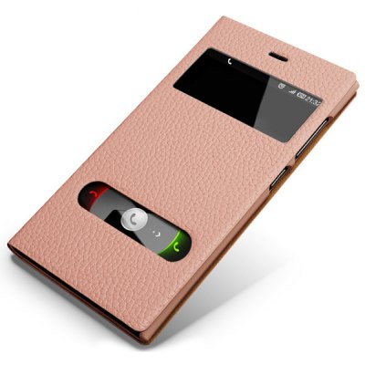 ФОТО Moby Dual View Window Design Genuine Leather and PC Cover Case for Xiaomi 3