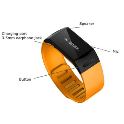L28D Bluetooth 3.0 Smart Bracelet Watch Phonebook Sync SMS Reminding