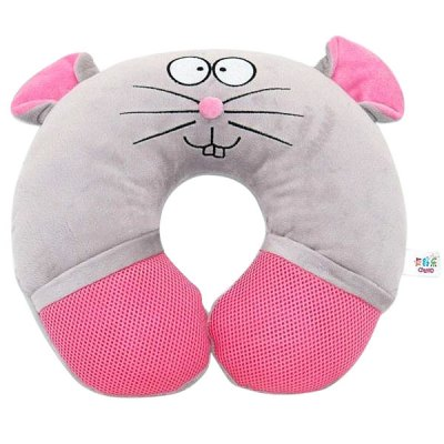 Гаджет   Eineng Smooth U - shape Music Pillow with Mouse Patterns Travel Pillow iPhone Speakers