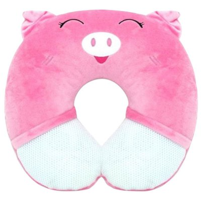 Гаджет   Eineng Smooth U - shape Music Pillow with Pig Patterns Travel Pillow iPhone Speakers