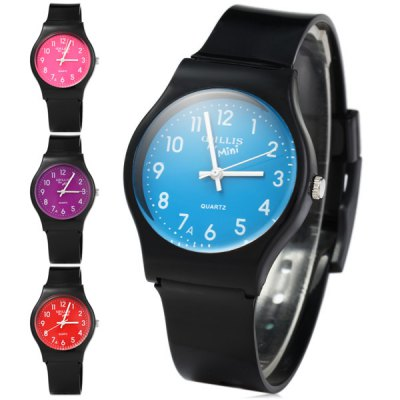 Willis Bright Colors Dial Quartz Watch Rubber Wristband for WomenWomens Watches<br>Willis Bright Colors Dial Quartz Watch Rubber Wristband for Women<br><br>Watches categories: Female table<br>Available color: Blue, Purple, Pink, Red<br>Style : Fashion&amp;Casual<br>Movement type: Quartz watch<br>Shape of the dial: Round<br>Display type: Analog<br>Case material: Stainless steel<br>Band material: Rubber<br>Clasp type: Pin buckle<br>Band color: Black<br>Water Resistance : Life water resistant<br>The dial thickness: 0.8 cm / 0.31 inches<br>The dial diameter: 3.3 cm / 1.30 inches<br>The band width: 1.7 cm / 0.67 inches<br>Product weight: 0.020 kg<br>Package weight: 0.070 kg<br>Product size (L x W x H) : 23 x 3.5 x 0.8 cm / 9.04 x 1.38 x 0.31 inches<br>Package size (L x W x H): 25 x 5 x 2 cm / 9.83 x 1.97 x 0.79 inches<br>Package contents: 1 x Watch