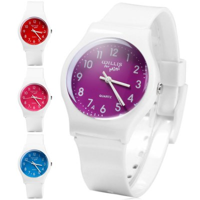 Гаджет   Willis Bright Colors Quartz Watch Rubber Wristband for Women Women