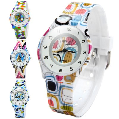 Гаджет   Willis Female Quartz Watch with Colorful Round Dial Rubber Strap Women