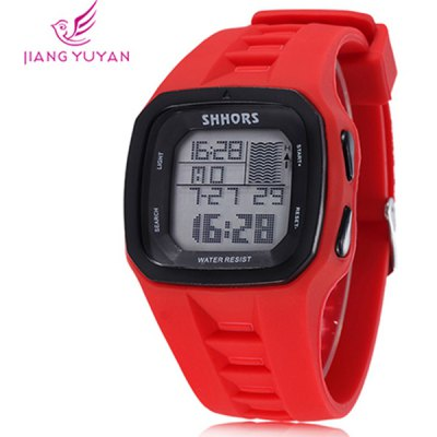 Shhors Jiangyuyan Military LED Watch Rectangle Dial Day and Date for Sports