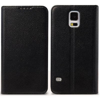 Фотография Moby Litchi Veins Genuine Leather and PC Cover Case for Samsung Galaxy S5 i9600 SM - G900