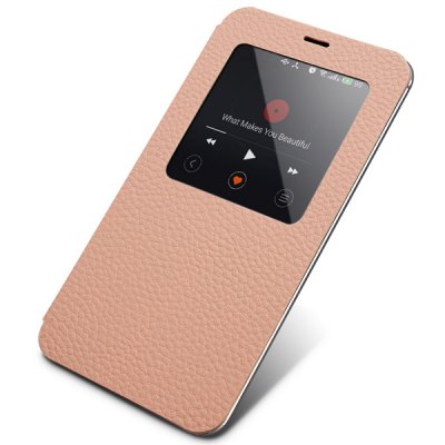ФОТО Moby View Window Design Genuine Leather and PC Cover Case for Meizu MX4