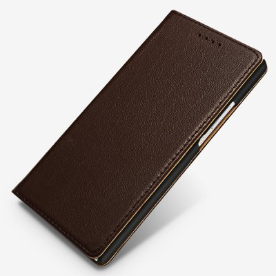 Фотография Moby Exquisite Genuine Leather and TPU Material Cover Case for Huawei Ascend P7