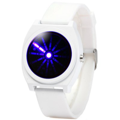Гаджет   Blue Light LED Analog Watch Wristwatch with Rubber Band LED Watches
