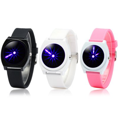 Blue Light LED Analog Watch Wristwatch with Rubber Band от GearBest.com INT