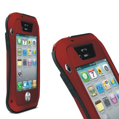 LOVE MEI Waterproof Case with Gorilla Glass for iPhone 4S / 4