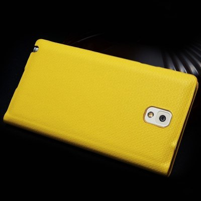 Фотография Moby Smart View Window Design Flip Genuine Leather Case with Grid Pattern for Samsung Galaxy Note 3