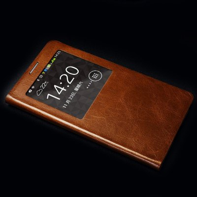 Гаджет   Moby Flip Vintage Waxy Genuine Leather Phone Case with View Window for Samsung Galaxy Note 3 Samsung Cases/Covers