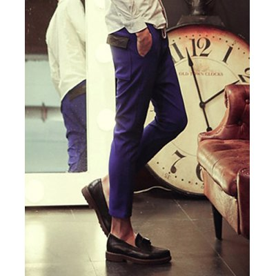 Гаджет   Sports Style Pocket Embellished Lace-Up Slimming Straight Leg Men