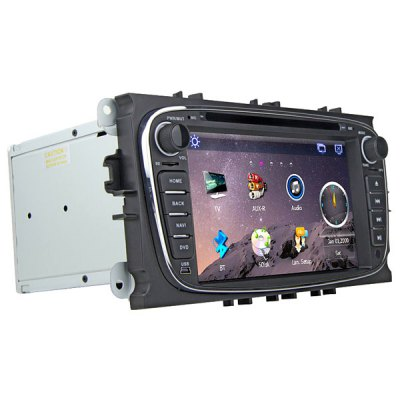 Rungrace RL - 762WGDR02 7 inch LCD Digital Touch Screen DVB - T In - Dash Car DVD Player for Ford MondeoCar DVD Player<br>Rungrace RL - 762WGDR02 7 inch LCD Digital Touch Screen DVB - T In - Dash Car DVD Player for Ford Mondeo<br><br>Brand: Rungrace<br>Type  : 2-DIN<br>Installation Site : In-Dash<br>Special Function  : GPS<br>Screen Type: Digital touch screen<br>Screen Size : 7inch<br>Screen Resolution : 800 x 480<br>RAM (memory): DDR2 256M<br>DVD Video Format: MP4, AVI<br>USB/SD Video Format: AVI, MP4<br>DVD Audio Format: WMA, MP3<br>Picture Format: JPEG<br>Media Format : CD, DVD-R/RW<br>OSD Language: Spanish, Chinese, Hebrew, Turkish, English, French, Arabic, Portuguese, Russian, German, Japanse, Italian<br>Product weight   : 3.200 kg<br>Package weight   : 4.05 kg<br>Product size (L x W x H)  : 22.6 x 16 x 10 cm / 8.88 x 6.29 x 3.93 inches<br>Package size (L x W x H)  : 44.5 x 26.8 x 33 cm / 17.49 x 10.53 x 12.97 inches<br>Package Contents: 1 x Host, 1 x Power Cable, 1 x GPS Antenna, 1 x TV Antenna, 1 x Remote Control, 1 x USB Cable, 1 x Canbus Decoder