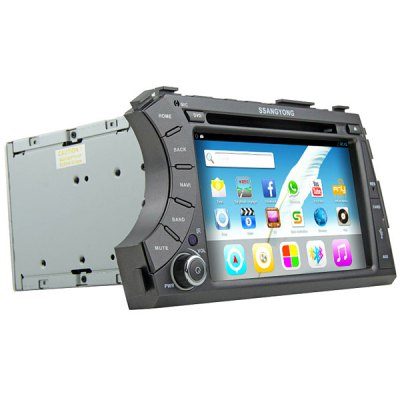 Rungrace RL - 918AGDR 7 inch LCD Digital Touch Screen DVB - T In - Dash Car DVD Player for Ssangyong Acyton KyronCar DVD Player<br>Rungrace RL - 918AGDR 7 inch LCD Digital Touch Screen DVB - T In - Dash Car DVD Player for Ssangyong Acyton Kyron<br><br>Brand: Rungrace<br>Type  : 2-DIN<br>Installation Site : In-Dash<br>Special Function  : GPS<br>Screen Type: Digital touch screen<br>Screen Size : 7inch<br>Screen Resolution : 800 x 480<br>RAM (memory): DDR3 1GB<br>DVD Video Format: MP4, AVI<br>USB/SD Video Format: AVI, MP4<br>DVD Audio Format: WMA, MP3<br>Picture Format: JPEG<br>Media Format : CD, DVD-R/RW<br>OSD Language: Chinese, Hebrew, Turkish, English, French, Arabic, Portuguese, Russian, German, Japanse, Italian, Spanish<br>Product weight   : 2.700 kg<br>Package weight   : 3.55 kg<br>Product size (L x W x H)  : 23.5 x 16.5 x 10 cm / 9.24 x 6.48 x 3.93 inches<br>Package size (L x W x H)  : 44.5 x 26.8 x 33 cm / 17.49 x 10.53 x 12.97 inches<br>Package Contents: 1 x Host, 1 x Power Cable, 1 x GPS Antenna, 1 x TV Antenna, 1 x Remote Control, 1 x Cable for iPod, 1 x USB Cable, 2 x Mounting Bracket