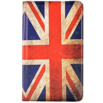 Фотография PC PU Leather 360 Degrees Rotation Case with National Flag Design Stand Function for Samsung Galaxy Tab S 8.4 T700 T705