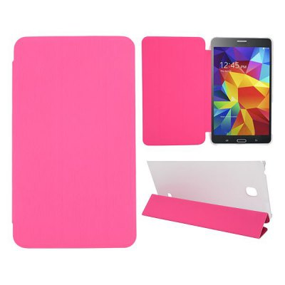 Toothpick Grain Leather Case with Transparent Back Cover for Samsung Galaxy Tab 4 7.0 / T230 / T231 / T235
