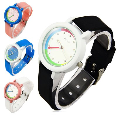 Kezzi Women Wristwatch Quartz Watch with Leather BandWomens Watches<br>Kezzi Women Wristwatch Quartz Watch with Leather Band<br><br>Watches categories: Female table<br>Available color: Pink, Blue, Black, White<br>Style : Fashion&amp;Casual<br>Movement type: Quartz watch<br>Shape of the dial: Round<br>Display type: Analog<br>Case material: Alloy<br>Band material: Leather<br>Clasp type: Pin buckle<br>The dial thickness: 0.7 cm / 0.28 inches<br>The dial diameter: 2.8 cm / 1.10 inches<br>Product weight: 0.060 kg<br>Package weight: 0.11 kg<br>Product size (L x W x H) : 20.4 x 2.8 x 0.7 cm / 8.02 x 1.10 x 0.28 inches<br>Package size (L x W x H): 21.4 x 3.8 x 1.7 cm / 8.41 x 1.49 x 0.67 inches<br>Package contents: 1 x Kezzi Watch