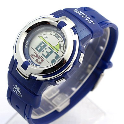 Фотография Pasnew PES - 313 Water Resistant Sports LED Watch Day Alarm Stopwatch for Kids