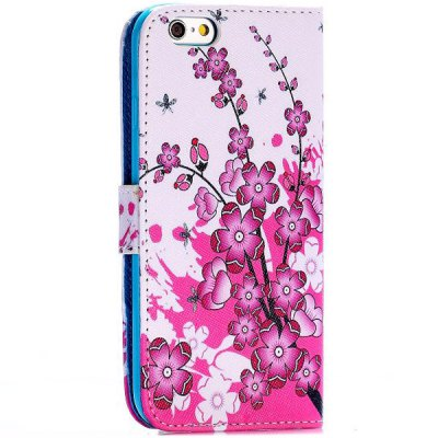 Фотография Flower Style PU Leather TPU Material Full Body Case with Stand Credit Card Holder for iPhone 6  -  4.7 inches
