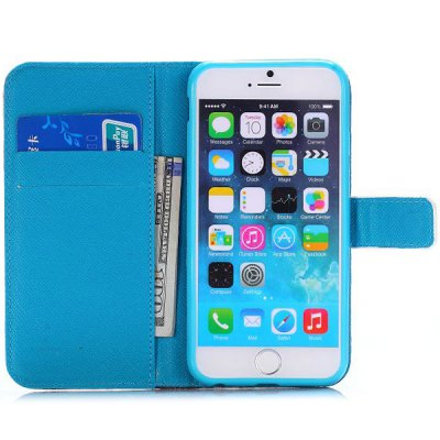 Фотография Cute Bear Tower Style PU Leather TPU Material Full Body Case with Stand Credit Card Holder for iPhone 6  -  4.7 inches