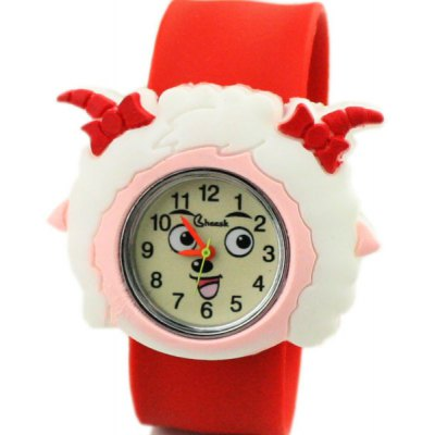 Kid's Pleasant Sheep Pretty Sheep Quartz Pat Watch