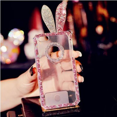 Фотография Diamond Rabbit Style Phone Cover TPU Case Protector with Lanyard for iPhone 6  -  4.7 inch