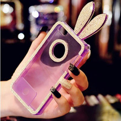 Гаджет   Diamond Rabbit Style Phone Cover TPU Case Protector with Lanyard for iPhone 5 / 5S  -  4 inch iPhone Cases/Covers