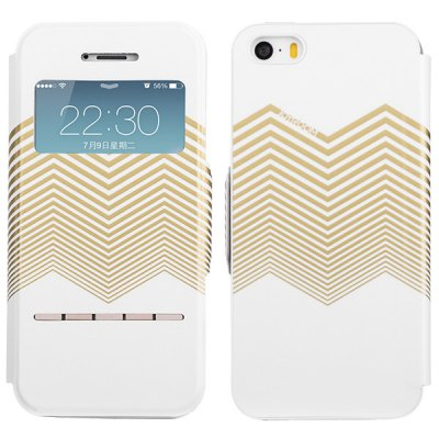 ФОТО Joroom View Window Design PU and PC Material Sliding Answer Cover Case for iPhone 5 5S