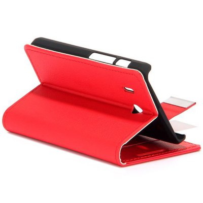 Фотография Full Body PU Leather Case with Stand Card Holder for Huawei Ascend Y320