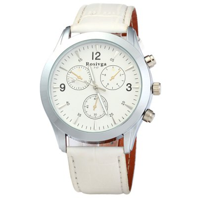 Rosivga 717 Men Little Three Stitches Analog Quartz Watch Big Round Dial WatchMens Watches<br>Rosivga 717 Men Little Three Stitches Analog Quartz Watch Big Round Dial Watch<br><br>Brand: Rosivga<br>Watches categories: Male table<br>Watch style: Casual<br>Style elements: Stainless steel<br>Available color: Black, White, Red, Brown<br>Movement type: Quartz watch<br>Shape of the dial: Round<br>Display type: Analog<br>The bottom of the table: Ordinary<br>Watch-head: Ordinary<br>Case material: Stainless steel<br>Case color: Silver, Brown<br>Band material: PU<br>Clasp type: Pin buckle<br>Band color: Red, Black, White, Brown<br>Special features: Decorating small three stitches<br>The dial thickness: 1 cm<br>The dial diameter: 3.6 cm<br>The band width: 2.2 cm<br>Product weight: 0.045 kg<br>Package weight: 0.07 kg<br>Product size (L x W x H): 25.1 x 4.6 x 1 cm / 9.86 x 1.81 x 0.39 inches<br>Package size (L x W x H): 26 x 5 x 2 cm / 10.22 x 1.97 x 0.79 inches<br>Package Contents: 1 x Rosivga 717 Men Little Three Stitches Analog Quartz Watch
