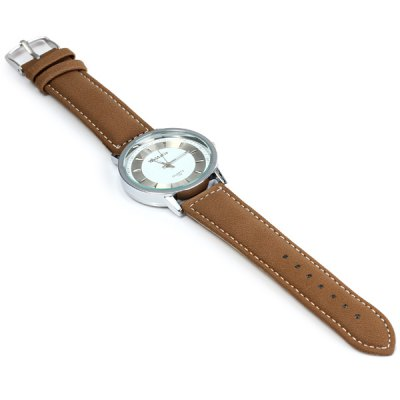 Фотография WoMaGe 1186 Delicate Round Dial Quartz Watch for Male PU Wristband Watch