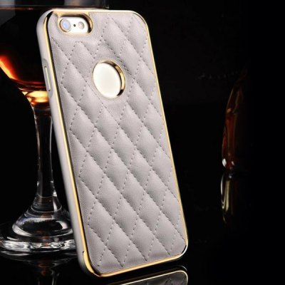 Moby Anti - dust Leather Metal Frame Lattice Pattern Case for iPhone 6  -  4.7 inchiPhone Cases/Covers<br>Moby Anti - dust Leather Metal Frame Lattice Pattern Case for iPhone 6  -  4.7 inch<br><br>Compatible for Apple: iPhone 6<br>Features: Back Cover, Anti-knock, Dirt-resistant<br>Material: Genuine Leather<br>Style: Pattern, Modern<br>Product weight : 0.050 kg<br>Package weight : 0.170 kg<br>Product size (L x W x H): 14.2 x 7.2 x 1.0 cm / 5.58 x 2.83 x 0.39 inches<br>Package size (L x W x H) : 23 x 12 x 3 cm / 9.04 x 4.72 x 1.18 inches<br>Package contents: 1 x Case