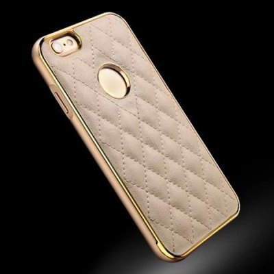 Гаджет   Moby Anti - dust Leather Metal Frame Lattice Pattern Case for iPhone 6 Plus  -  5.5 inch iPhone Cases/Covers