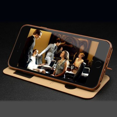 Фотография Moby Anti - dust Cowhide Opening View Window Stand Case for iPhone 6  -  4.7 inch