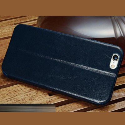 Moby Anti - dust Cowhide Opening View Window Stand Case for iPhone 6  -  4.7 inch