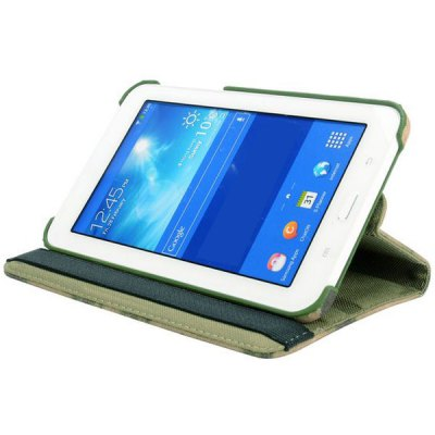 Фотография Camouflage Style 360 Degrees Rotatable Stand Cover Case for Galaxy Tab 3 Lite T110 / T111