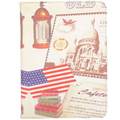 Flag Style 360 Degrees Rotatable Stand Cover Case for 10.1inch Sansung Galaxy Tab 4 T530