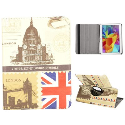 Фотография Flag Style 360 Degrees Rotatable Stand Cover Case for 10.1inch Sansung Galaxy Tab 4 T530